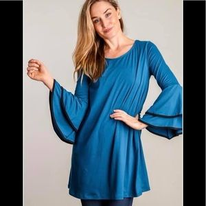 Dresses & Skirts - Blue bell sleeve tunic